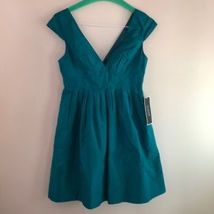 Teal evening dress by J. Crew